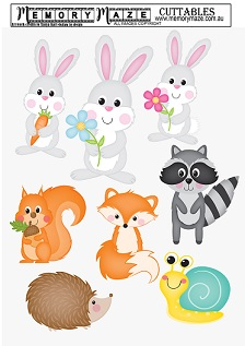 Bunnies,rabbit,  animals, easter, journal, sheets cuttable. Min